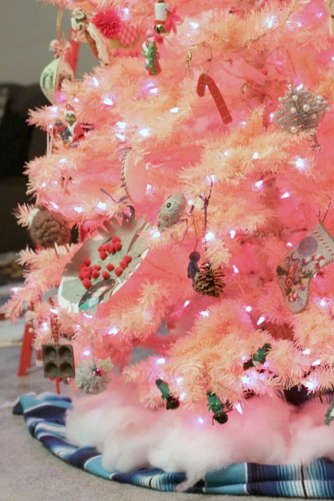 Gaudy Pink Christmas Tree