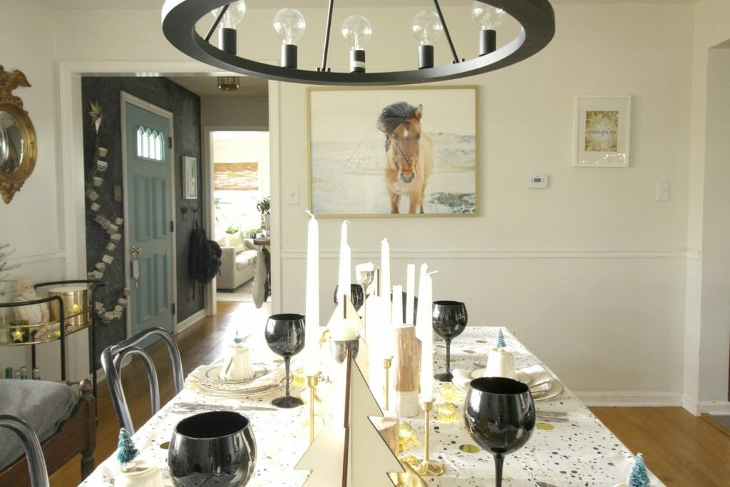 Statement Horse Photograph over Dining Table