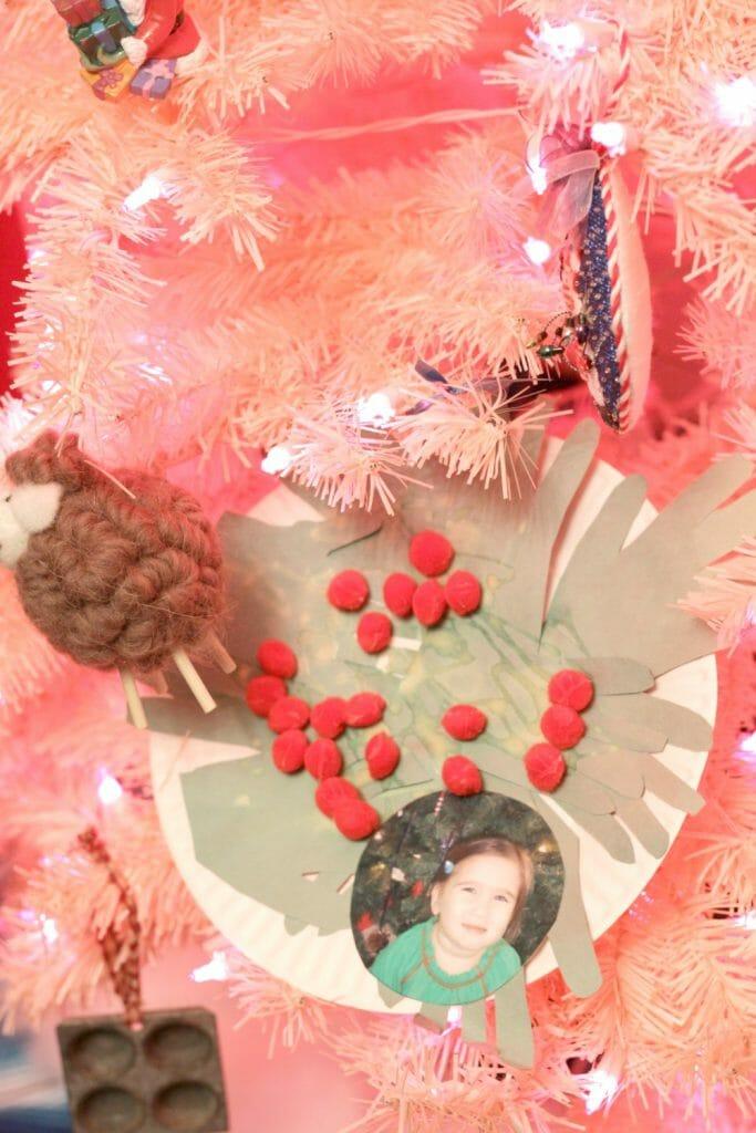 Pink Christmas Tree Decor
