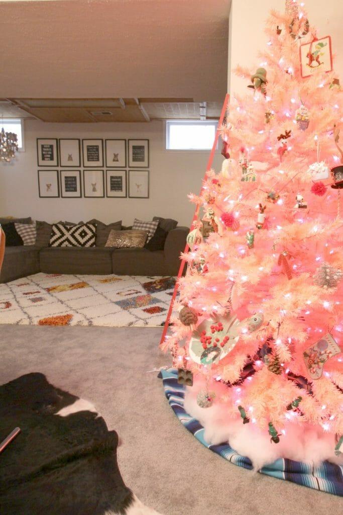 Pink Tree in Playroom