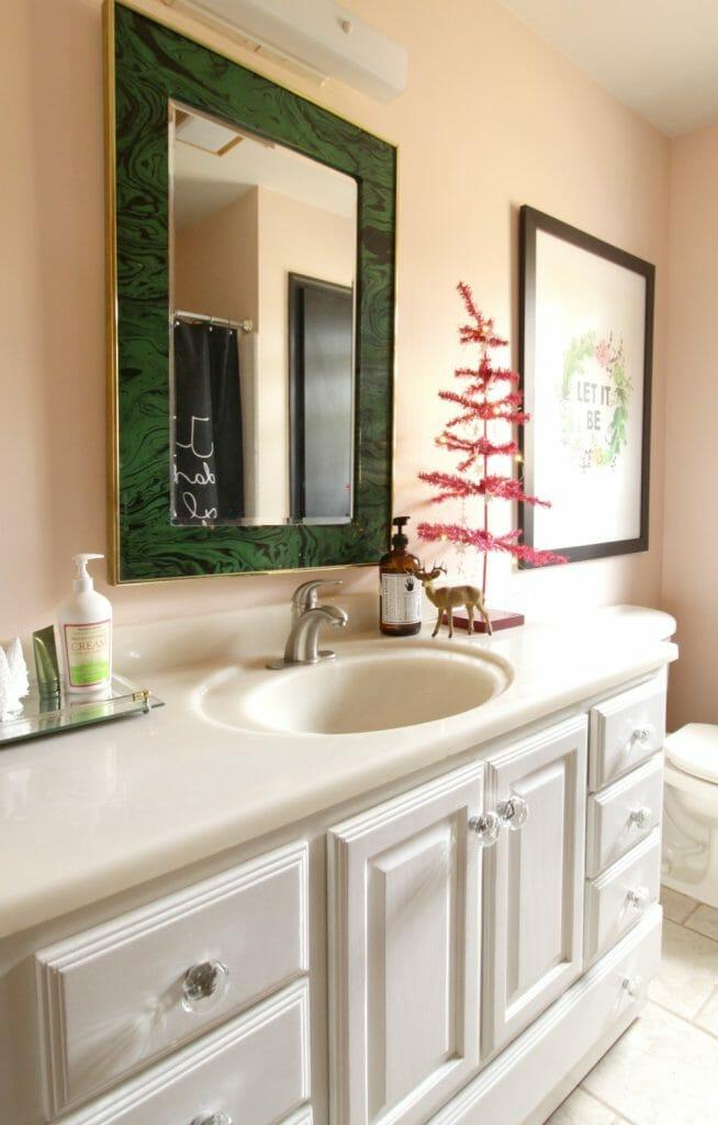 Pink Christmas Bathroom