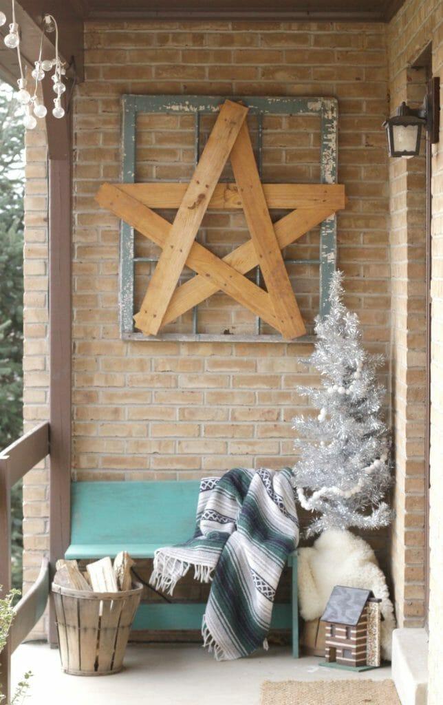 Boho Christmas Porch ENtry