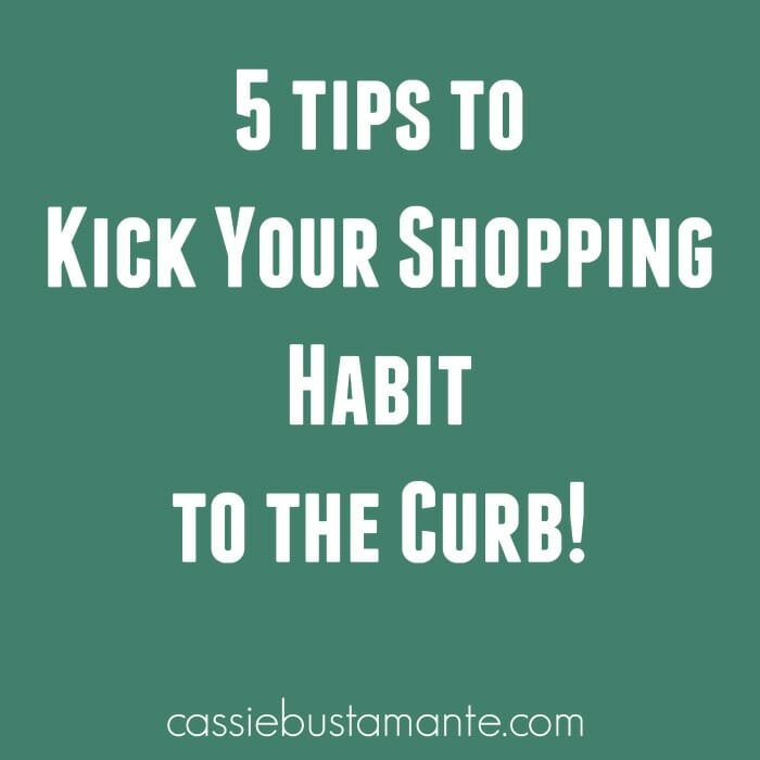5 Tips to Kick Your Shopping Habit to the Curb