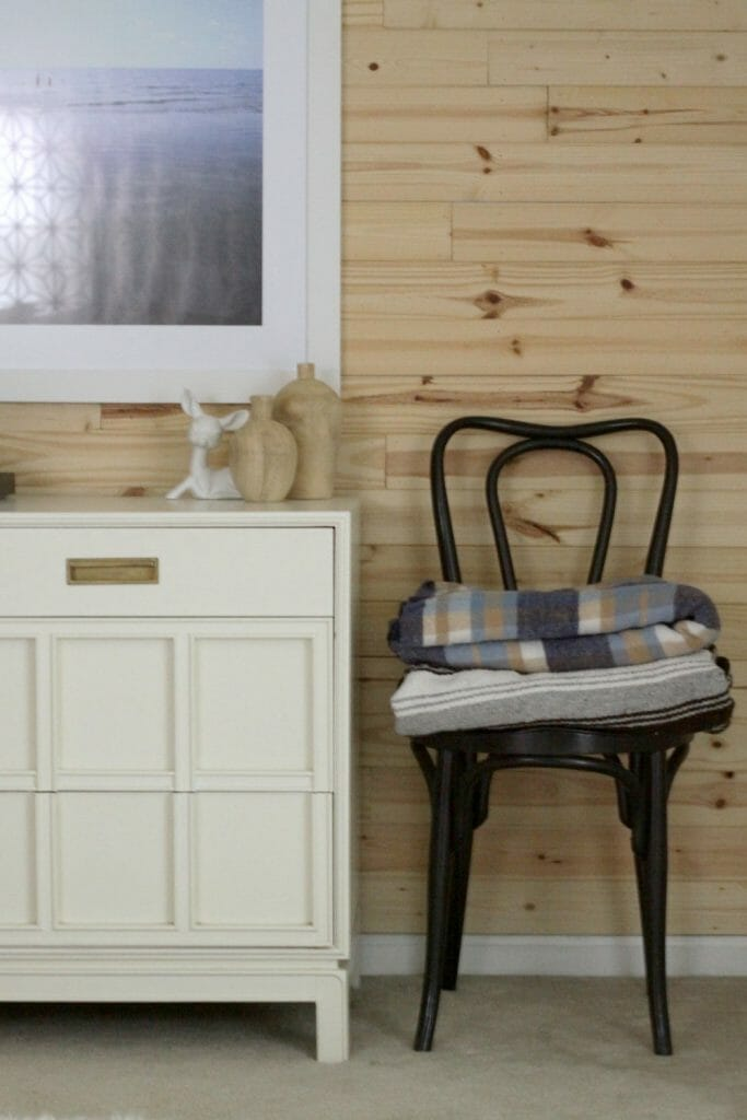Antique White Dresser in Bedroom