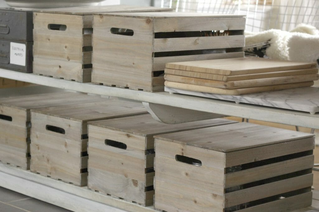 Stacked Cutting Boards on Island