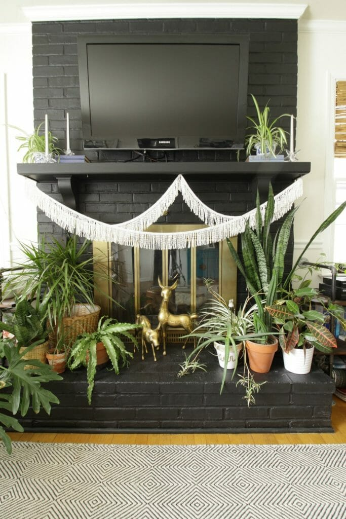 Plant Lover's Winter Mantle- Eclectic Boho Vibe