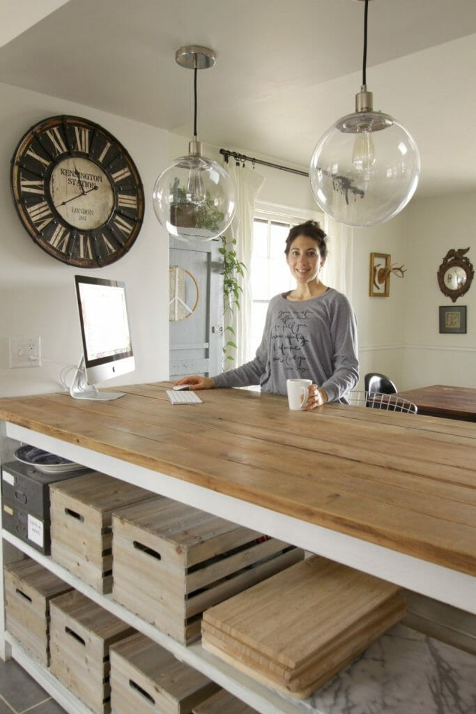 At Home Kitchen Island Office