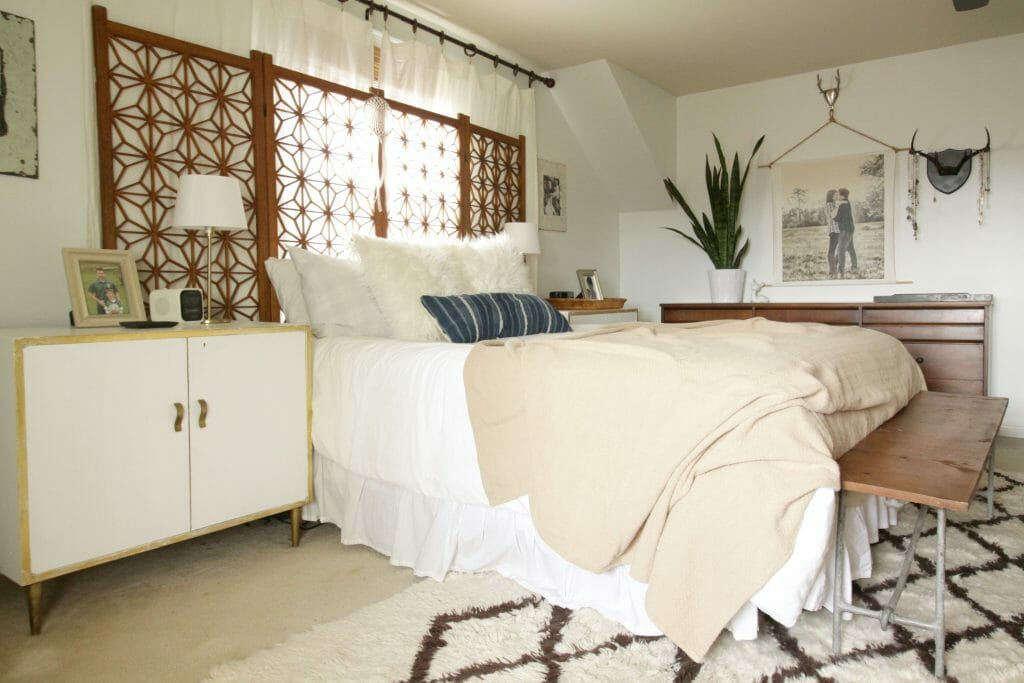 Cozy Neutral Modern Bohemian Bedroom