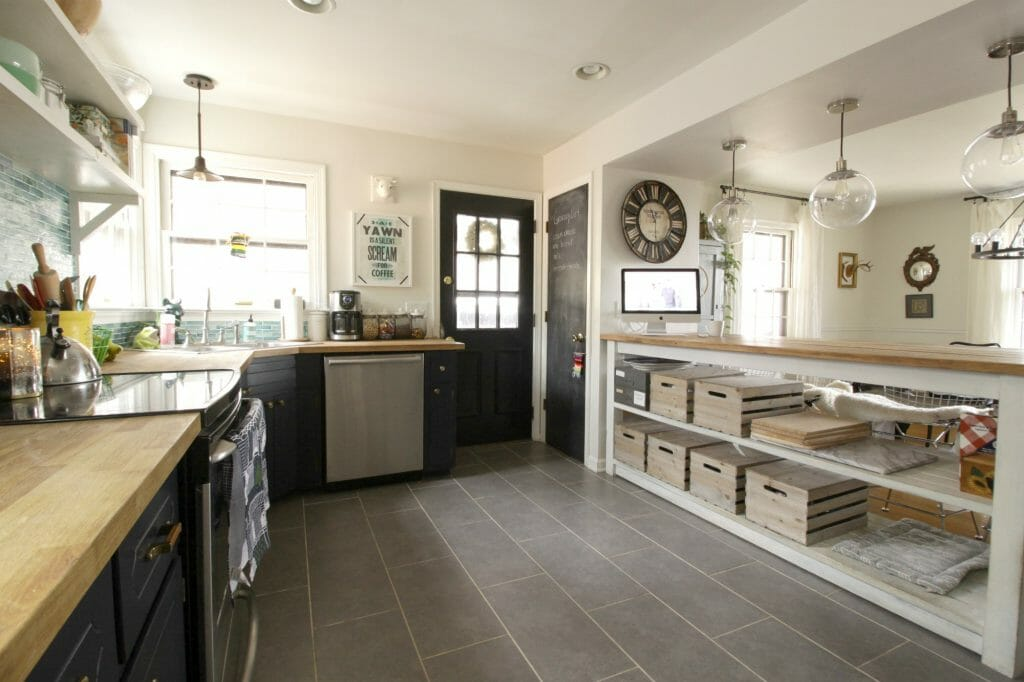 Kitchen With Unique Storage Ideas