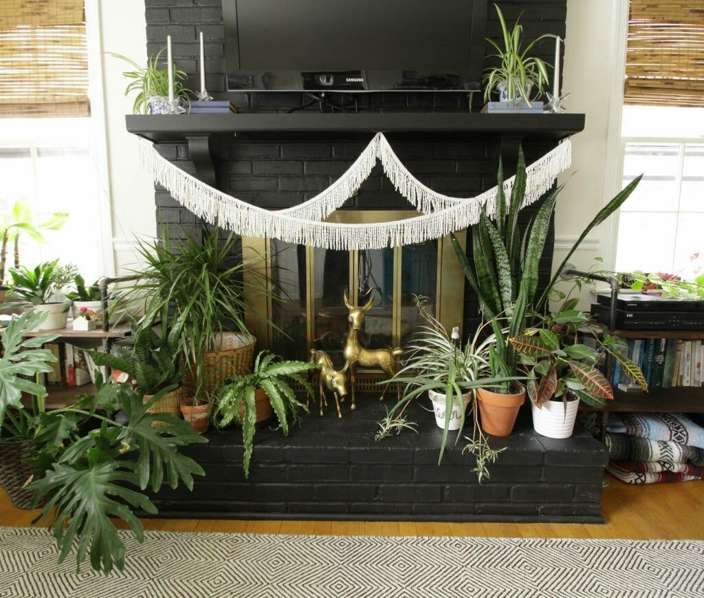 Modern Boho Plant Lover's Winter Mantle