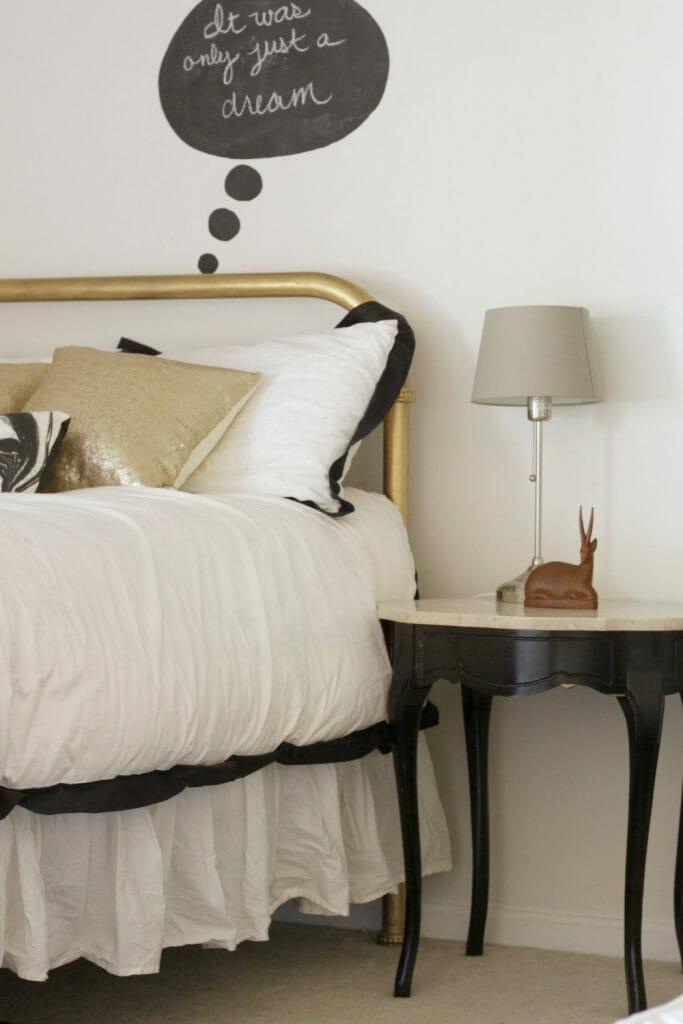 Black Bedside Table