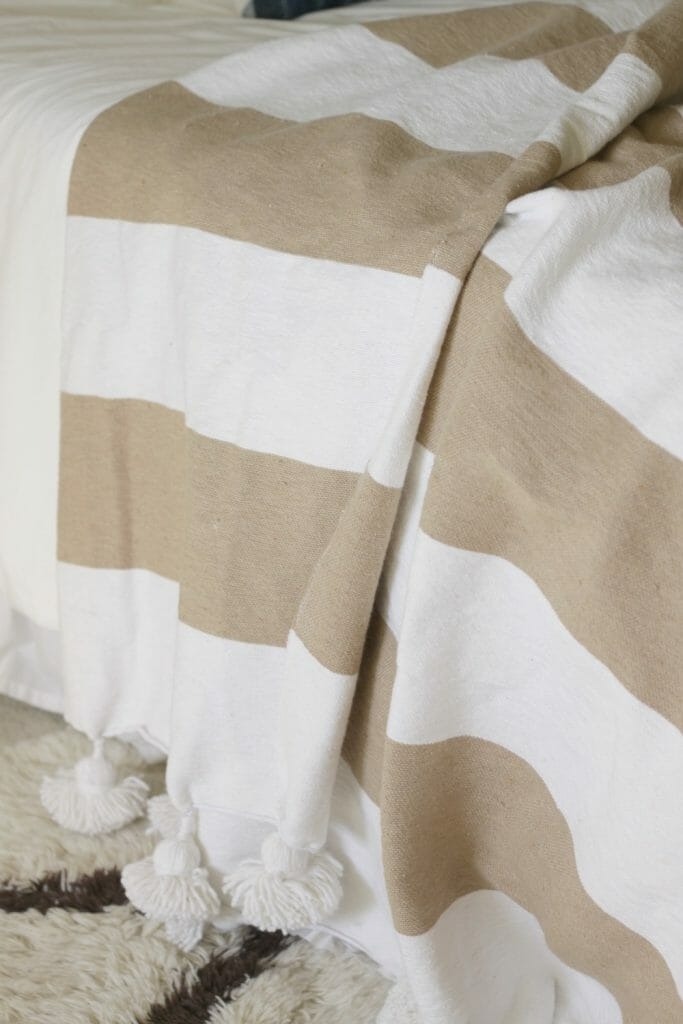 Handmade Striped Moroccan Blanket