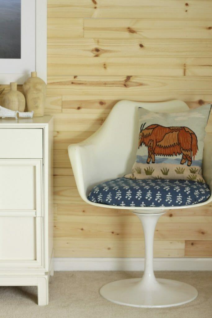 Block Print Indigo on Tulip Chair
