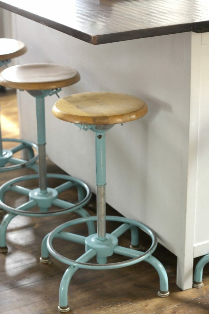 Industrial Aqua Kitchen Stools