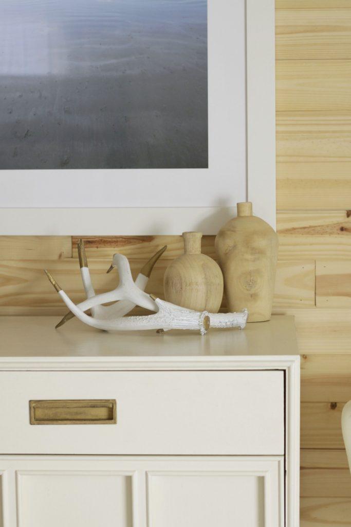 White, Wood, and Cream Bedroom