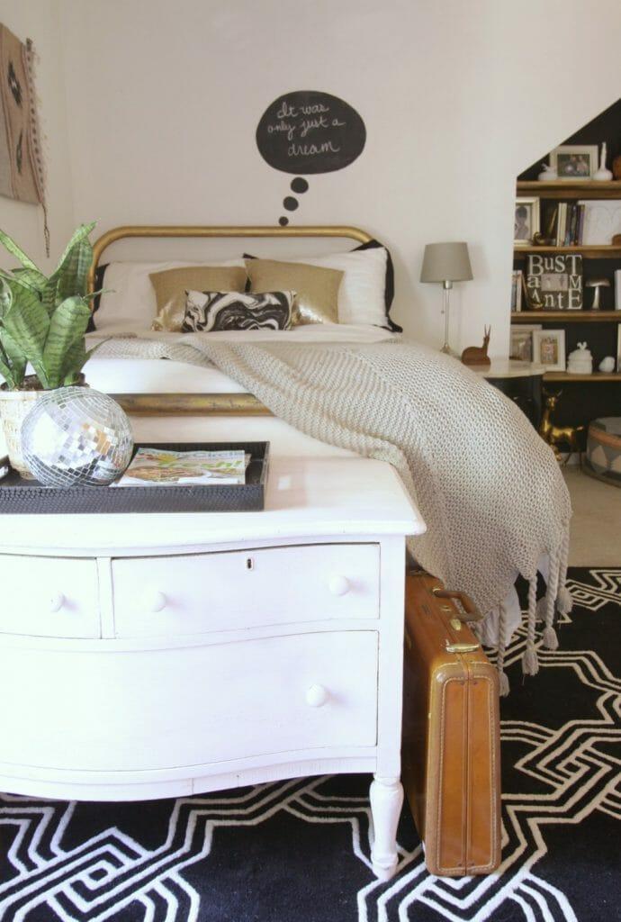 Pale Pink Dresser No Cost Bedroom Makeover