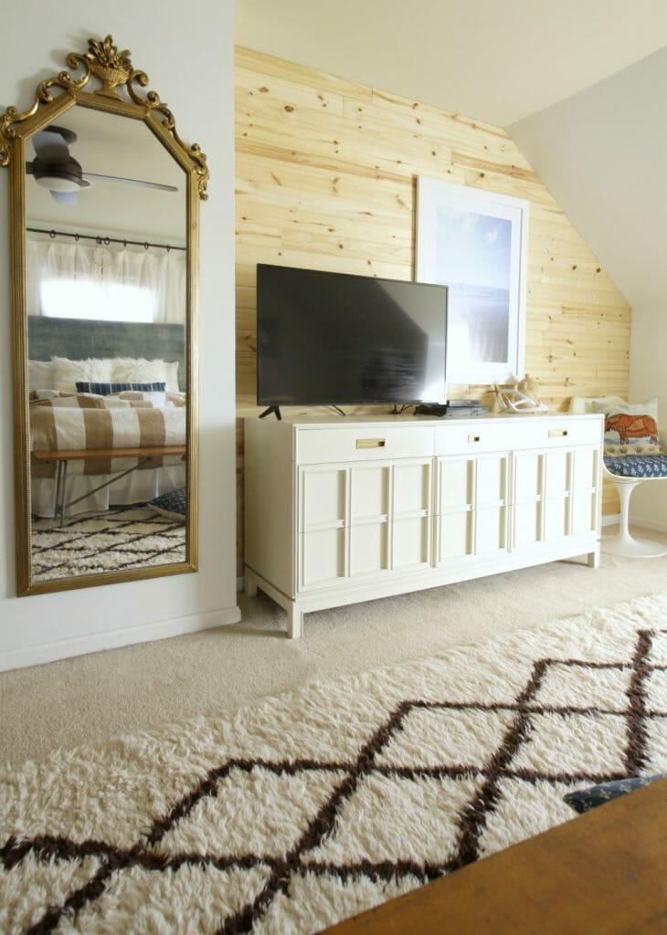 Modern Boho Bedroom with Shiplap
