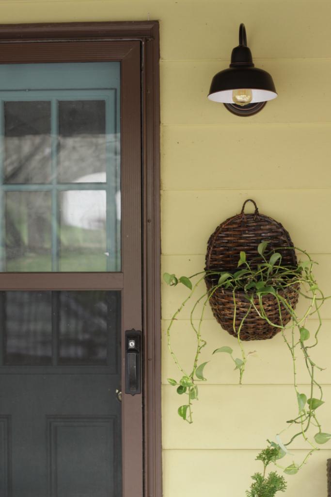 Basket Planter on Porch