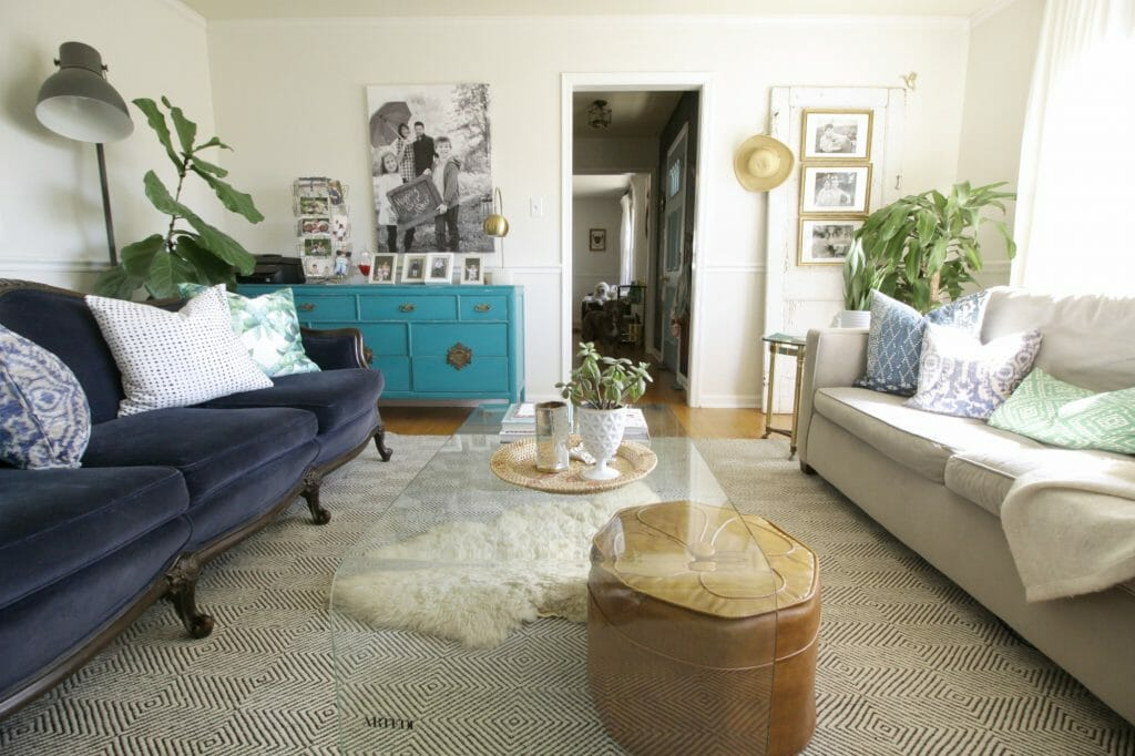 Eclectic Living Room- Springtime Tour