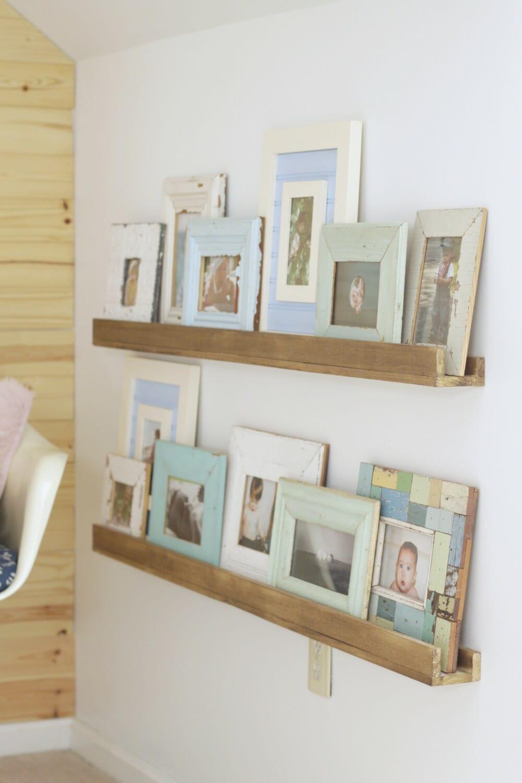 Easy DIY Photo Ledges