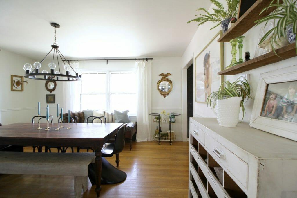 Modern Boho Spring Dining Room