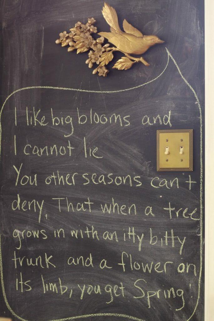 Super Fun Spring Chalkboard Wall- Funny, Humorous