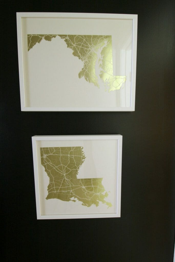 State Foil Art from Minted in Gold