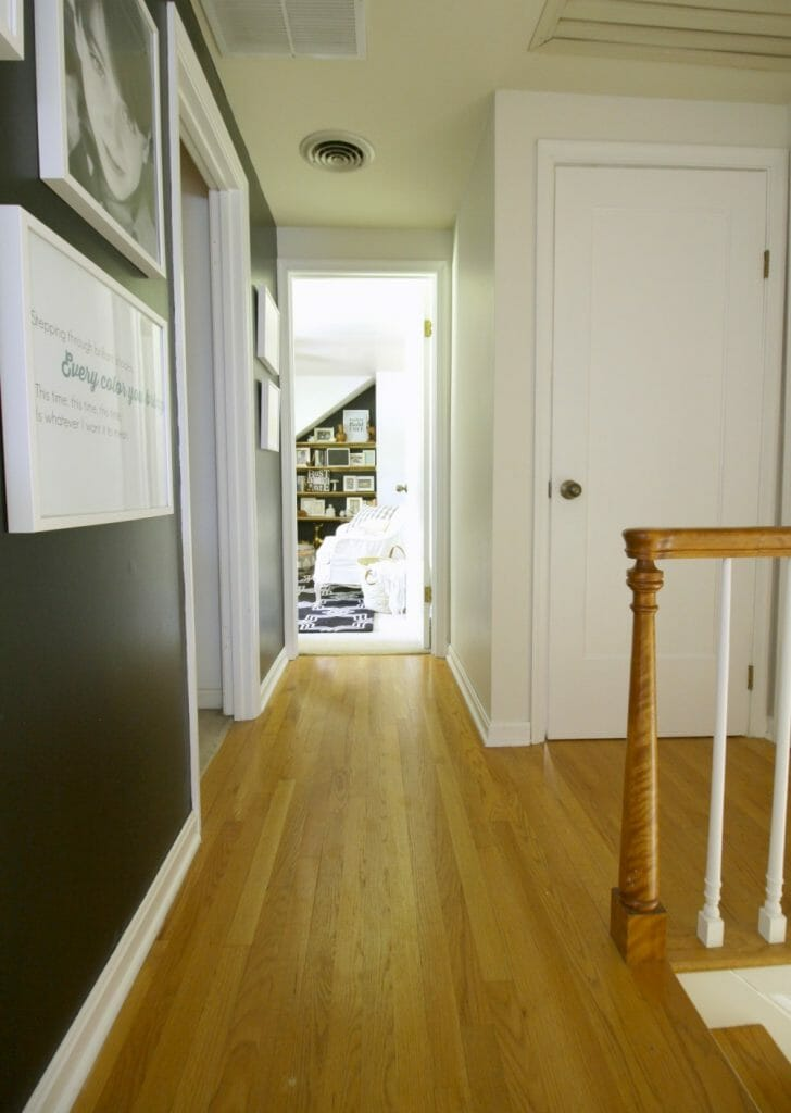 Black White Wood Hallway