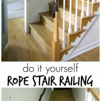DIY Rope Stair Railing