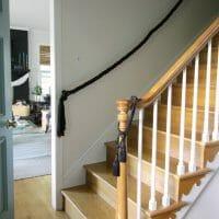 One Room Challenge Week 5: DIY Rope Stair Railing, Painted High S
