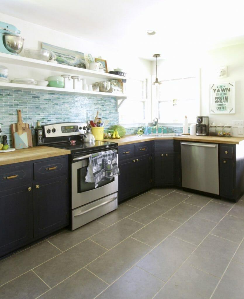 Blue Coastal Style Kitchen