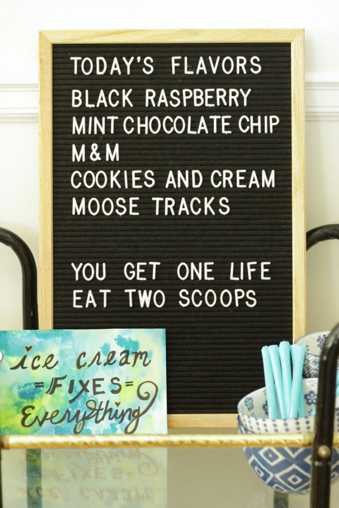 Ice Cream Letterboard