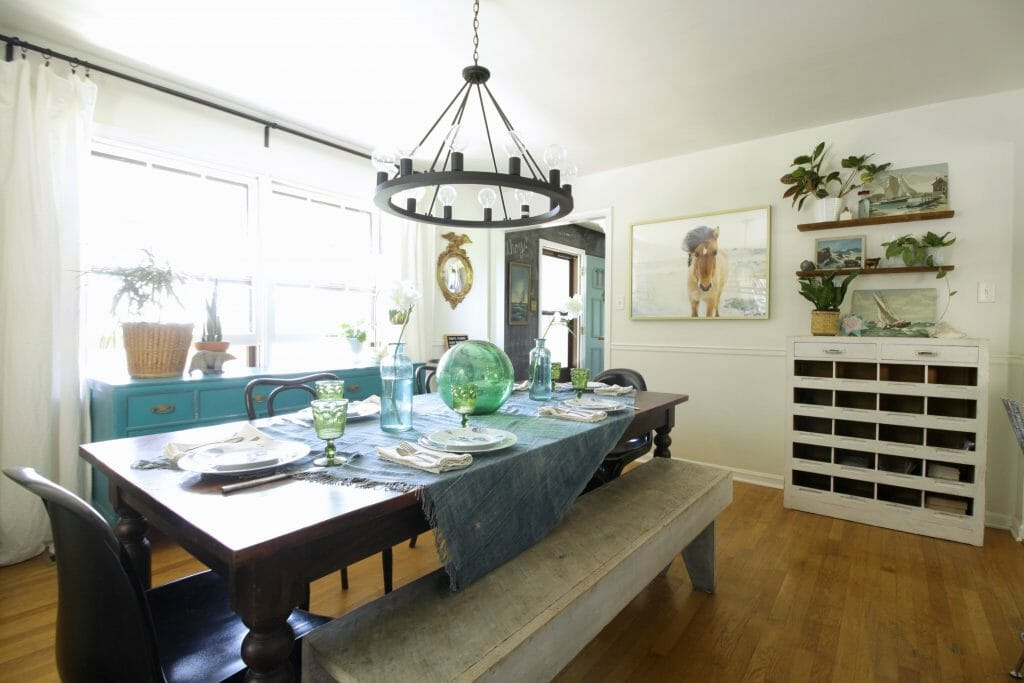 Modern Boho Farmhouse Summer Dining Room