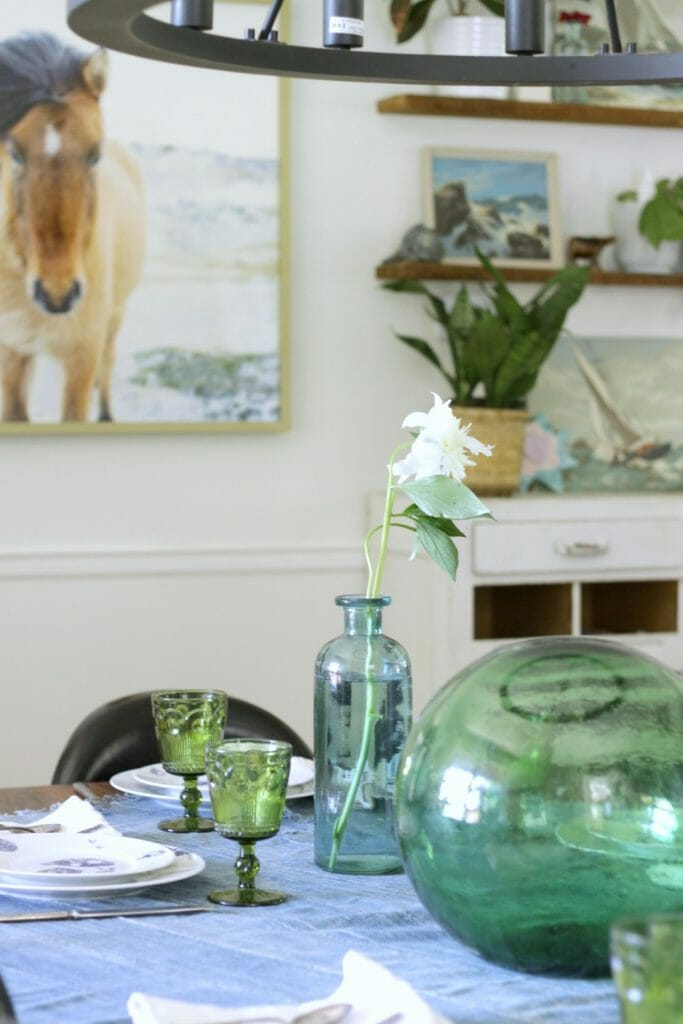 Blue & Green Eclectic Farmhouse Beachy Dining Room