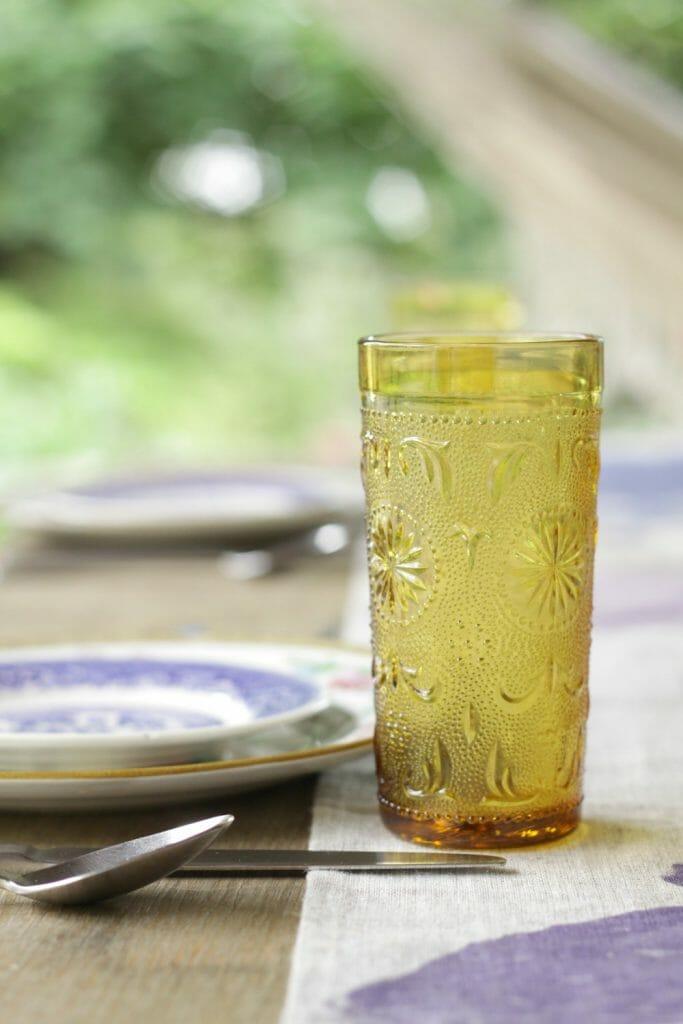 Vintage Amber Glasses
