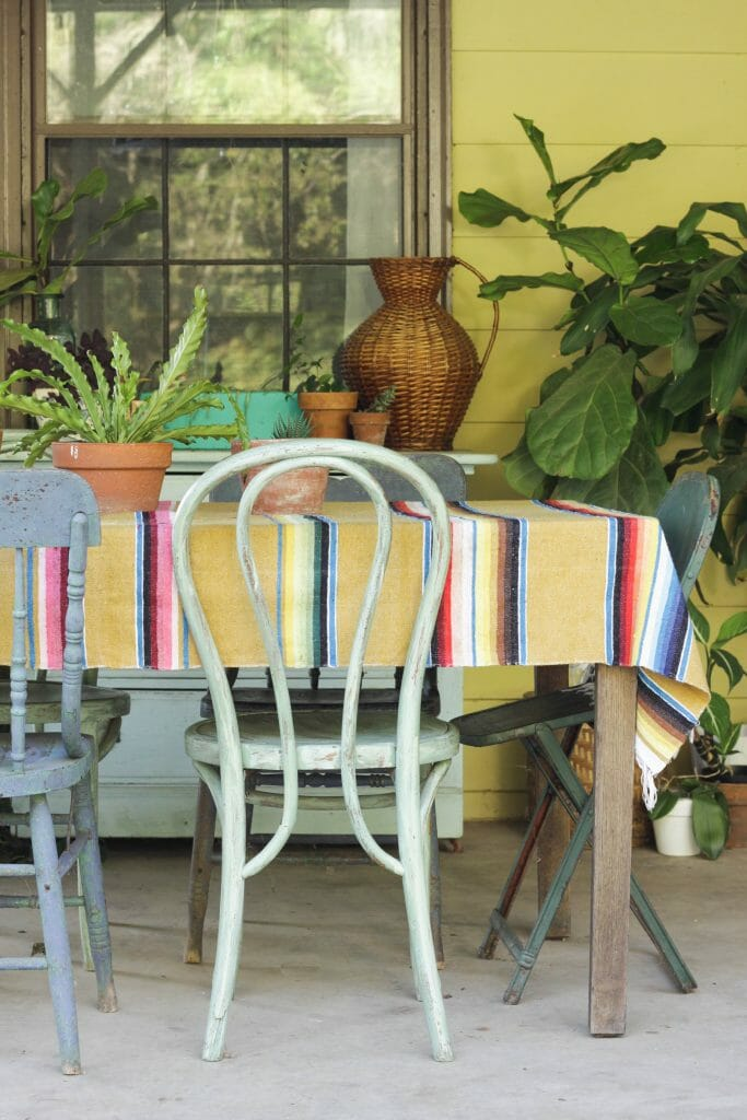 Eclectic Fall Porch Dining Table
