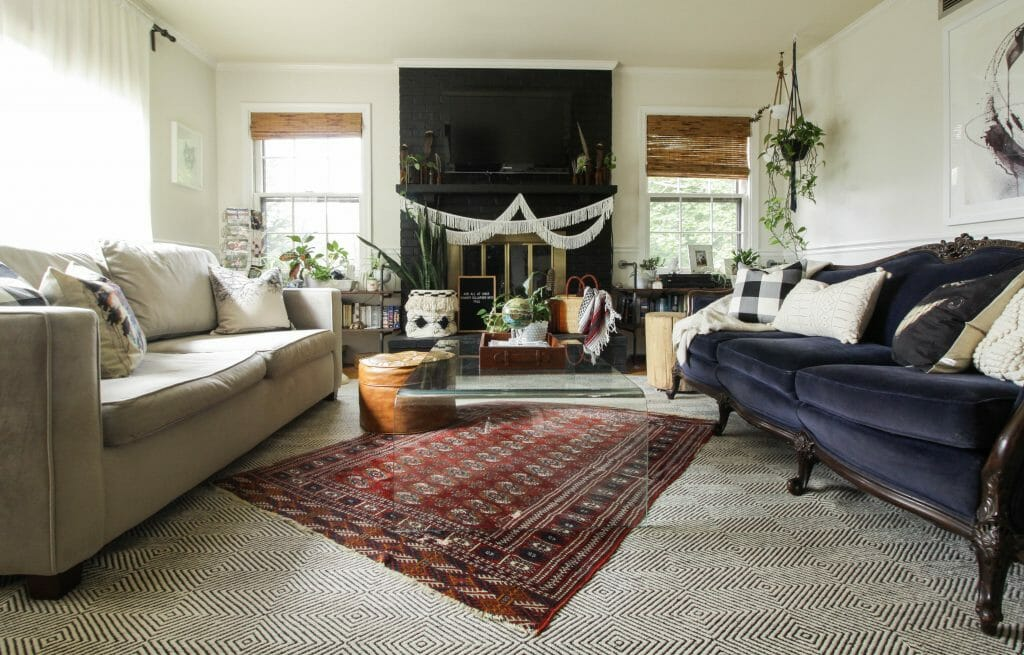 Fall Living Room with layers and textiles