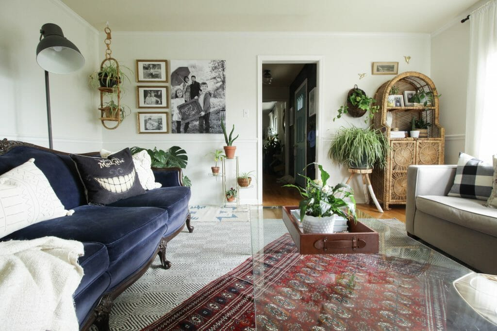 Fall Living Room with Loads of plants