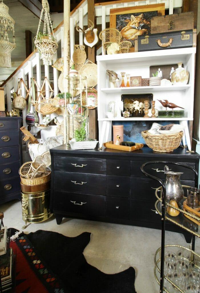Black Midcentury Dresser