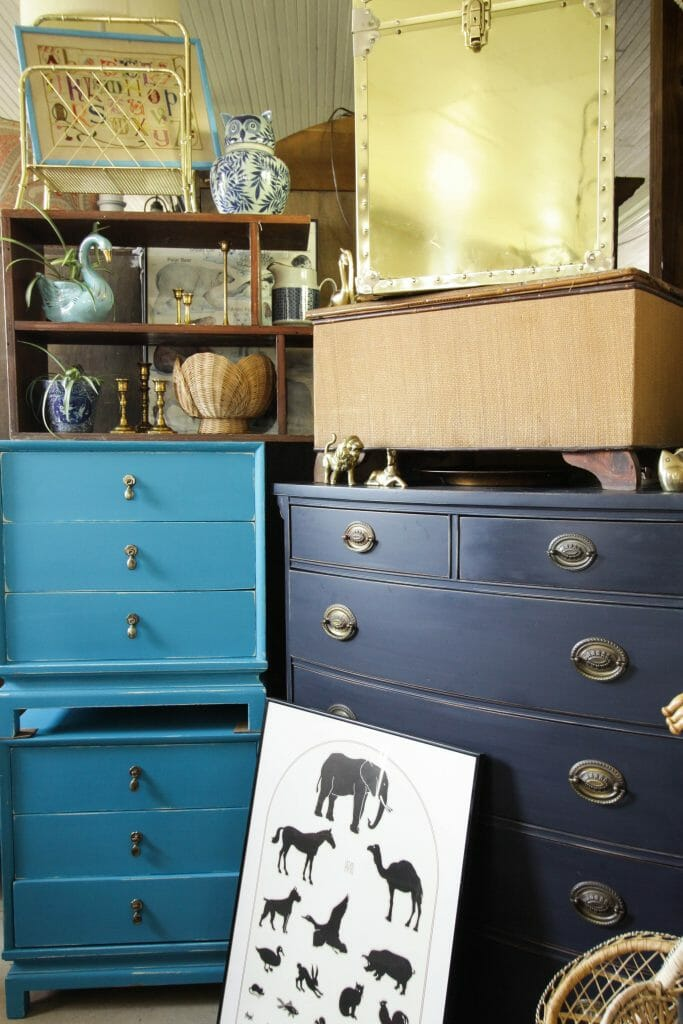 Classic Navy Dresser