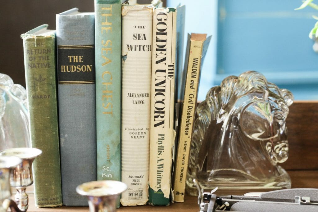Glass Art Deco Horse Bookends