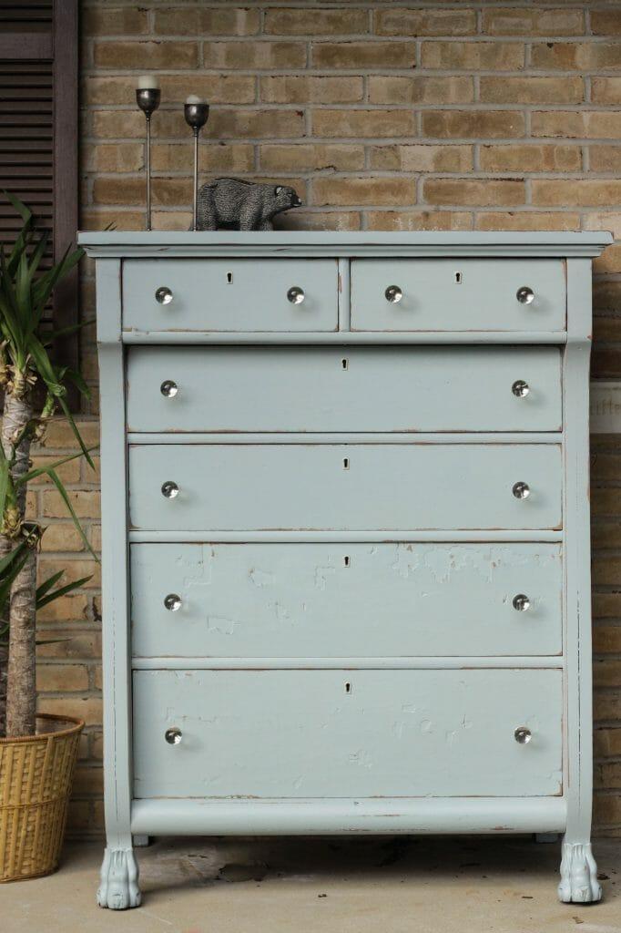 DIY Antique Painted Dresser Makeover