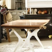 Furniture Makeover: One of a Kind Midcentury Dining Table (With s