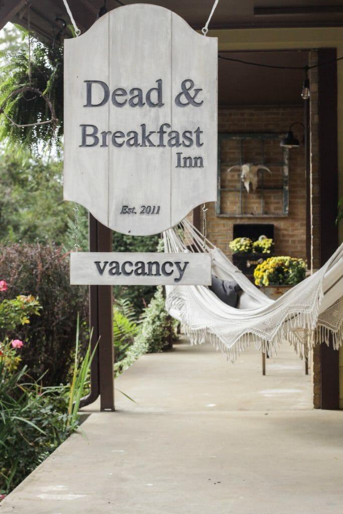 Dead & Breakfast Sign for Halloween Porch