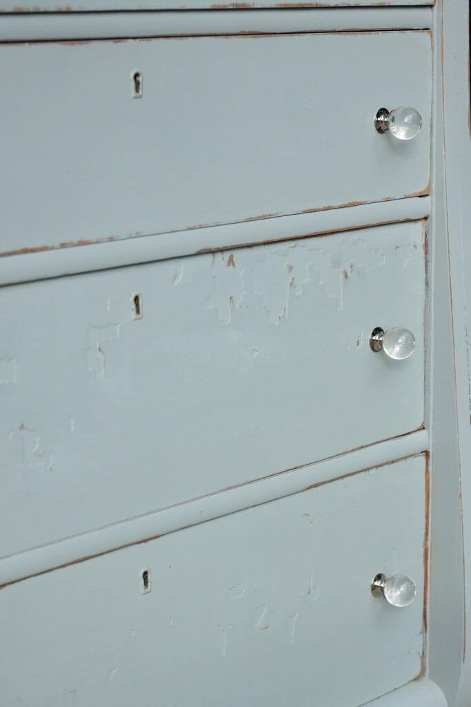 Gorgeous Glass Knobs for DIY Dresser Makeover