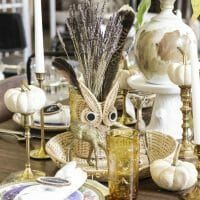 Natural Glam Eclectic Dining Tablescape Plus My October Sweet Clo