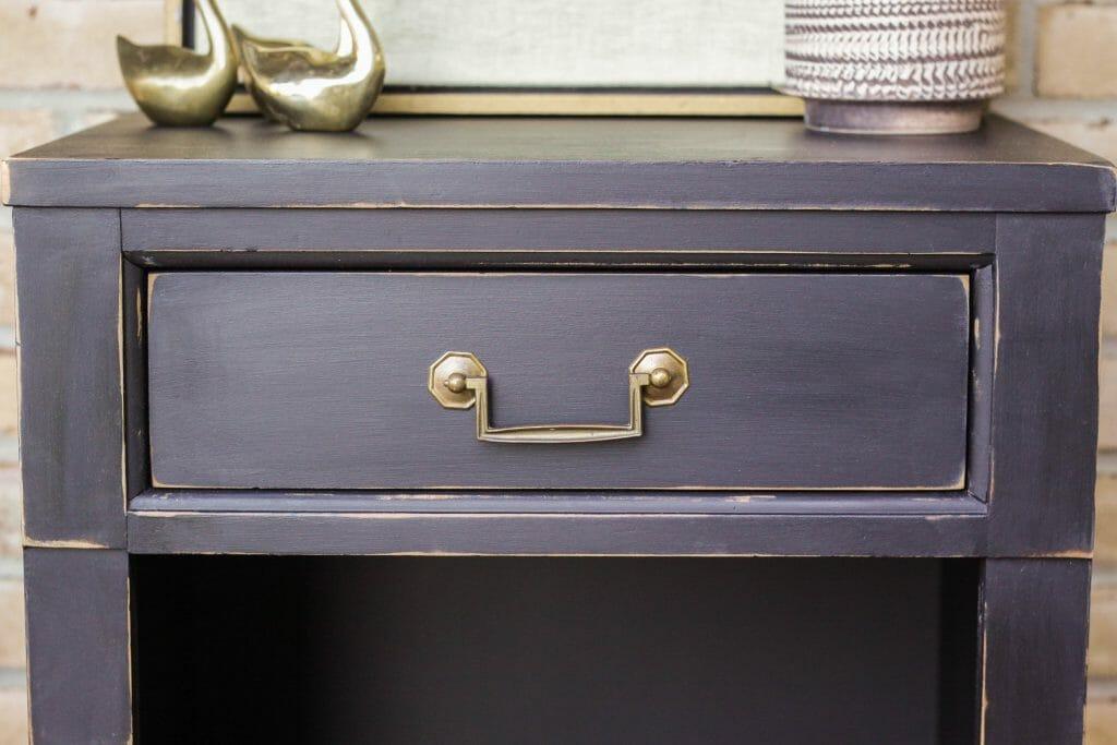 DIY brass & black vintage table