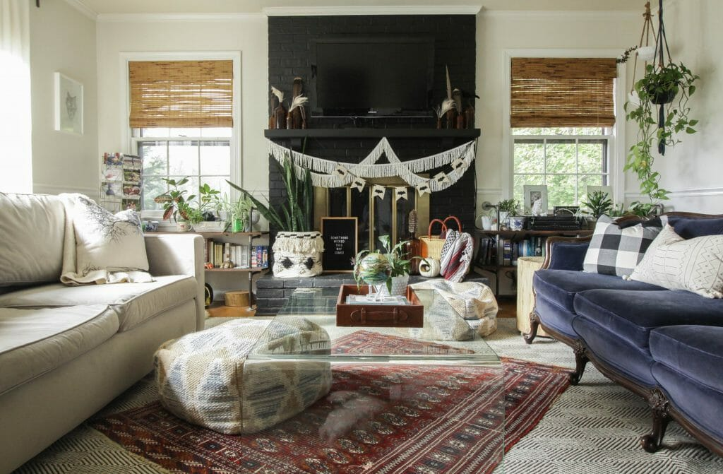 Eclectic Halloween Living Room