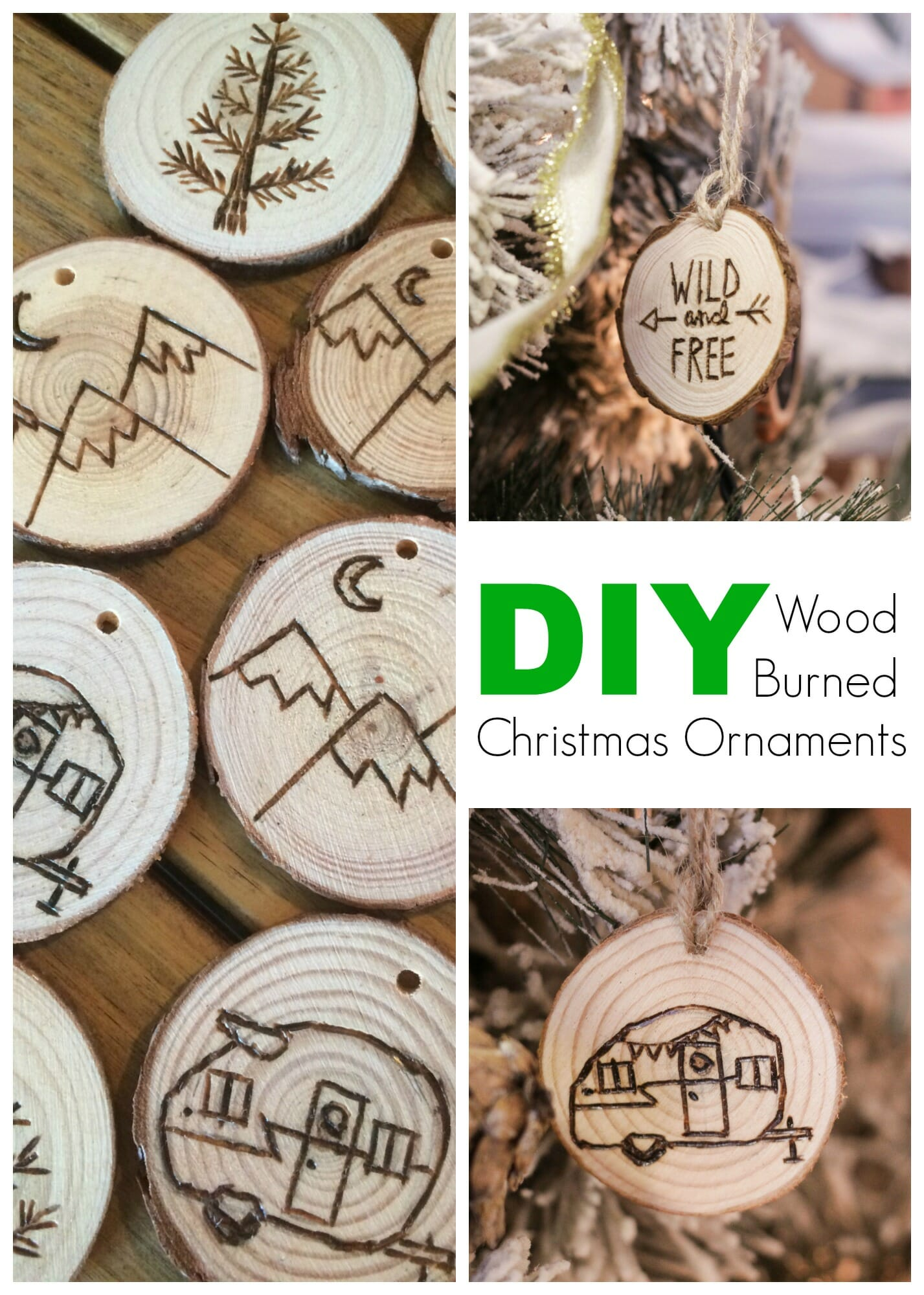 Diy Wood Burned Log Slice Ornaments Cassie Bustamante