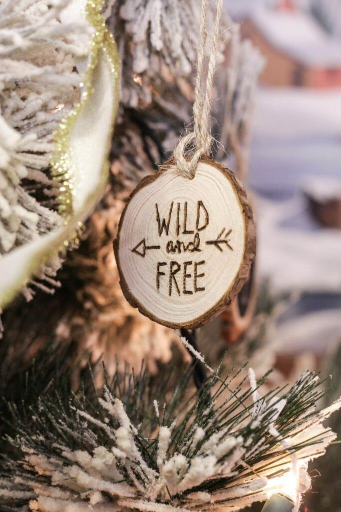 Wild & Free DIY Wood-burned Ornaments